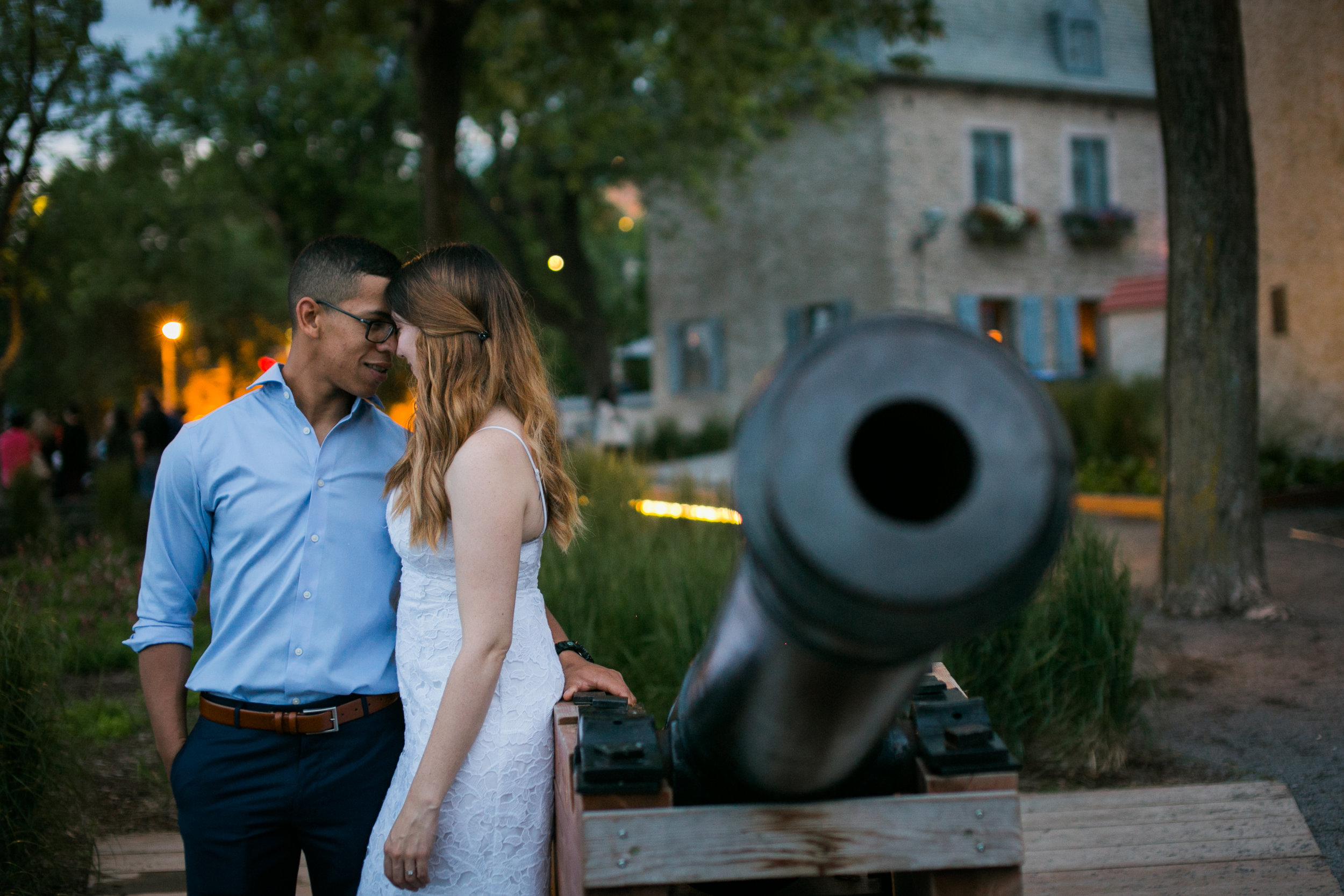 Vieux Old quebec engagement photos at sunset by Ness Photography.16.jpg
