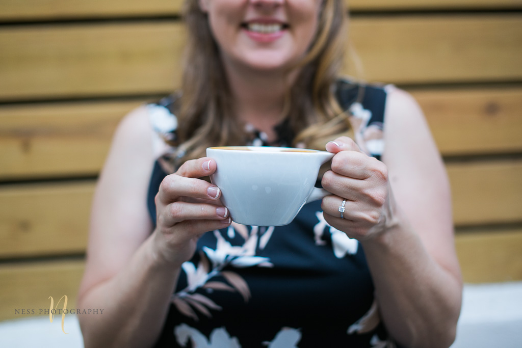 engagement ring closeup at Foundation coffee co engagement photoshoot- Tampa Florida  wedding photographer 17