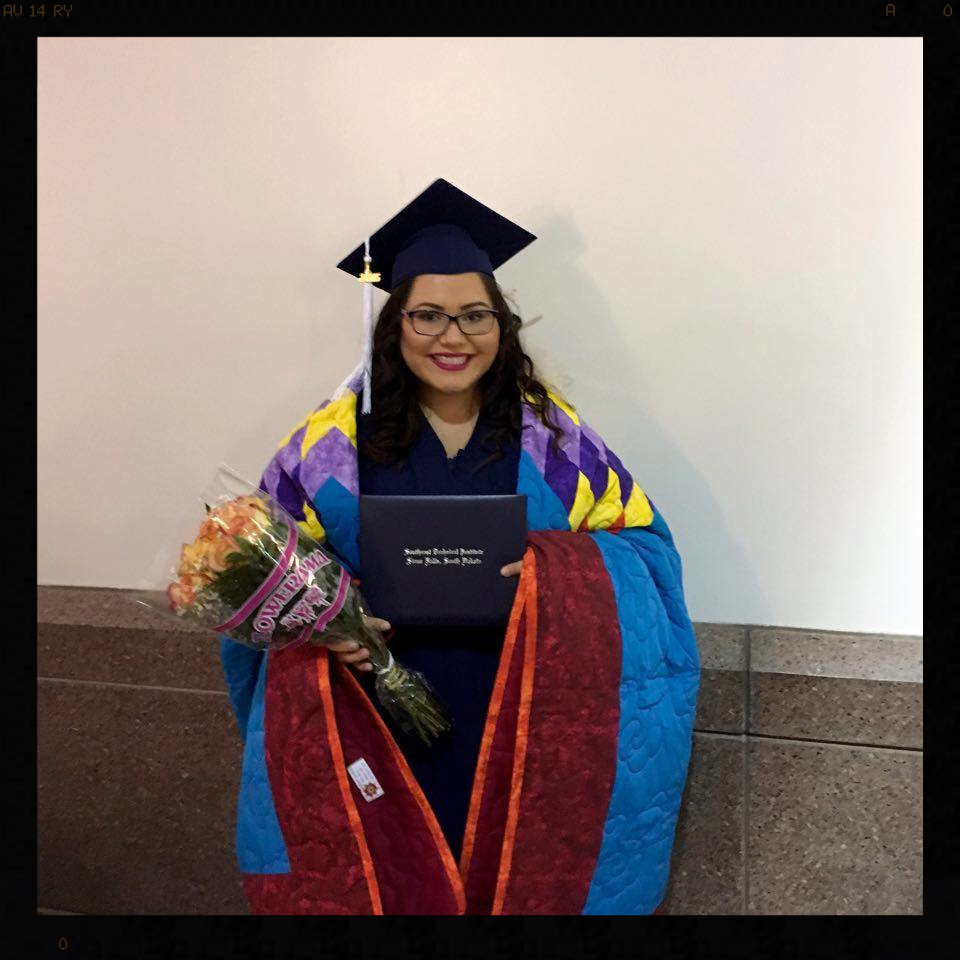 Andrea Archambeau just graduated in December of 2015 from Southeast Tech in Sioux Falls, SD.