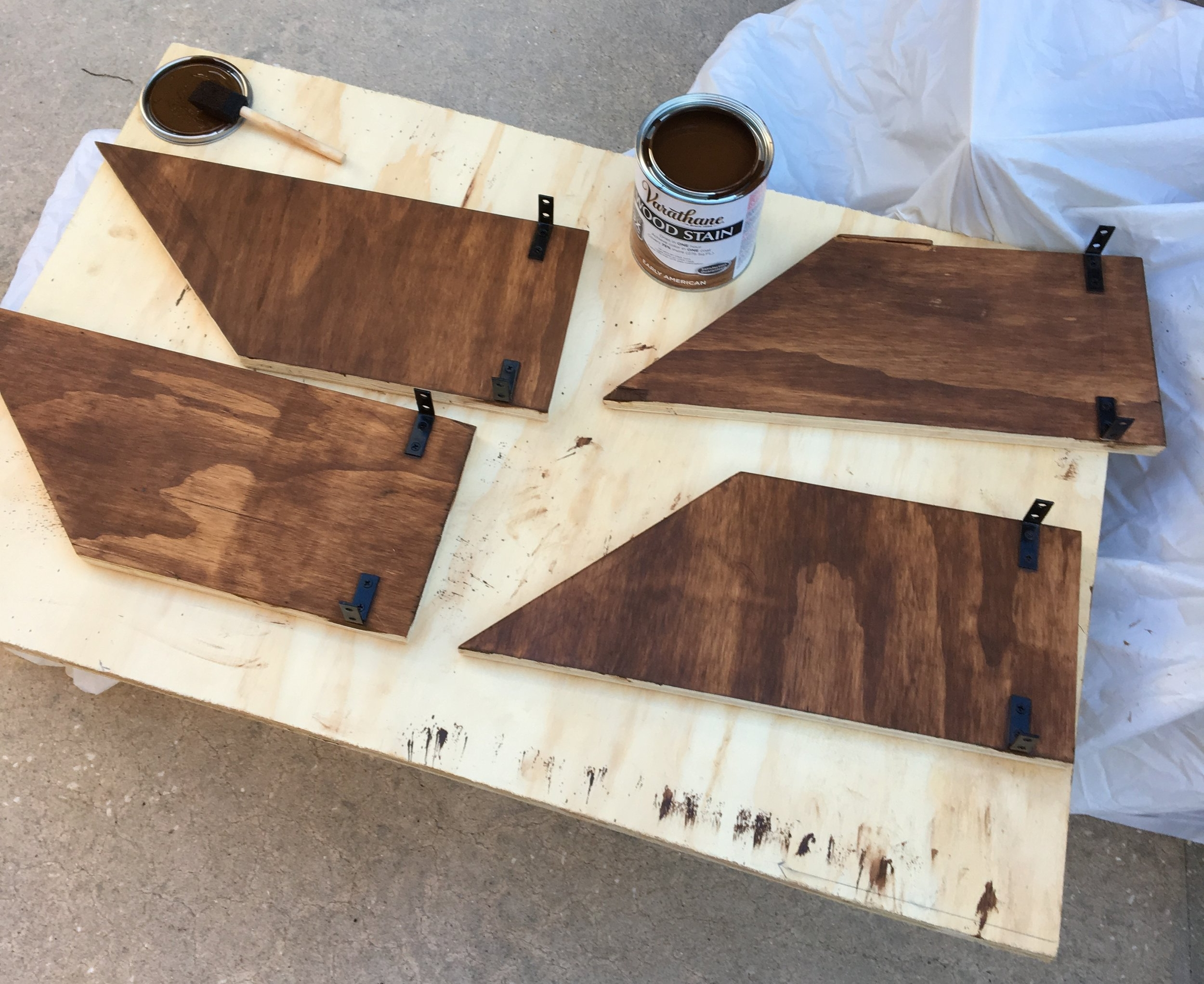Staining process.