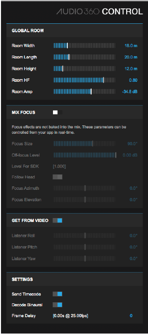 You can only have one instance of the Audio 360 Control per session. This goes on the Master 3D channel.