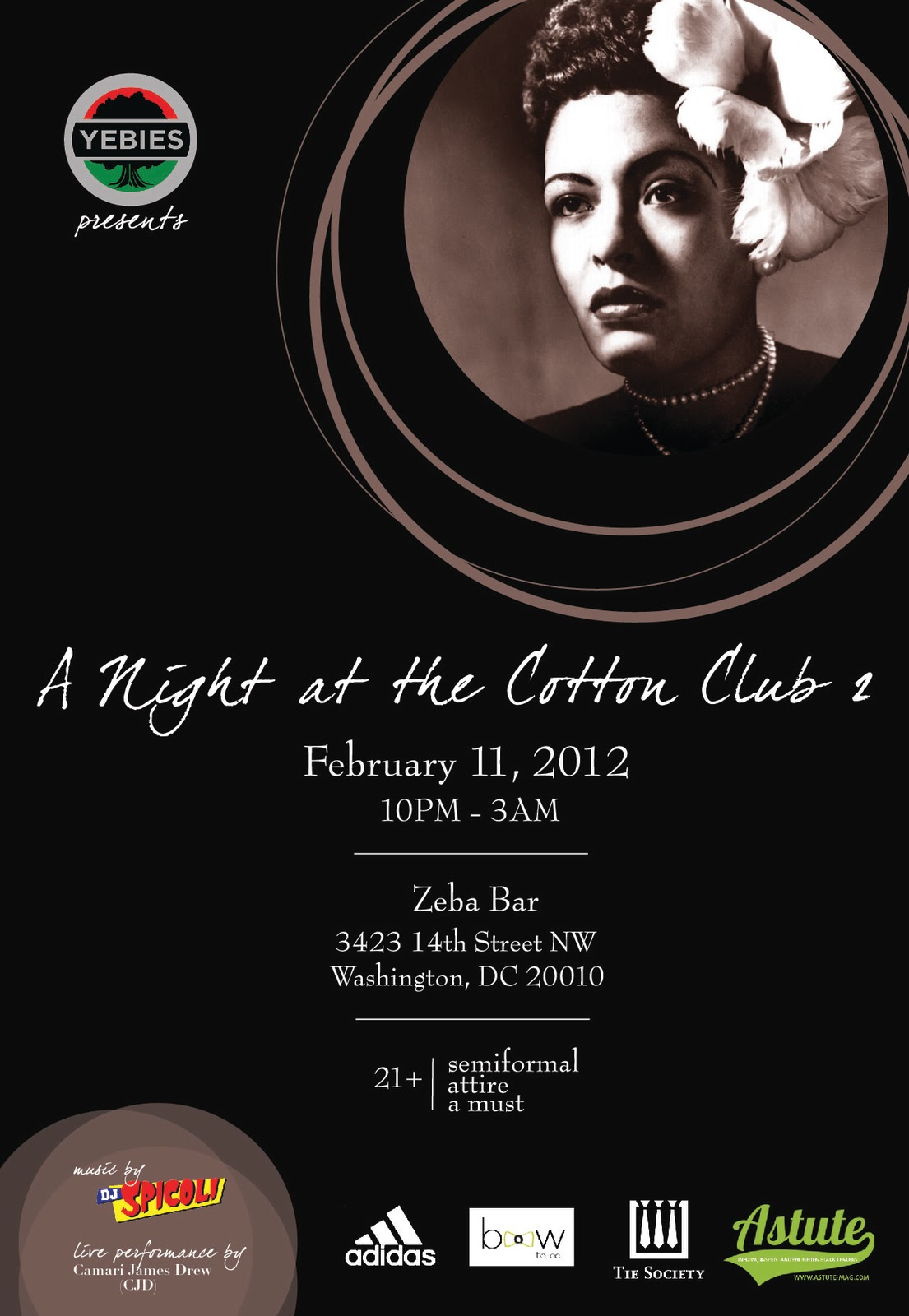 YEBies Presents: A Night At The Cotton Club 2