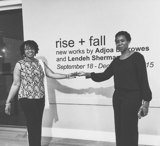 The Artist left to right: Adjoa Burrowes &Lendeh Sherman
