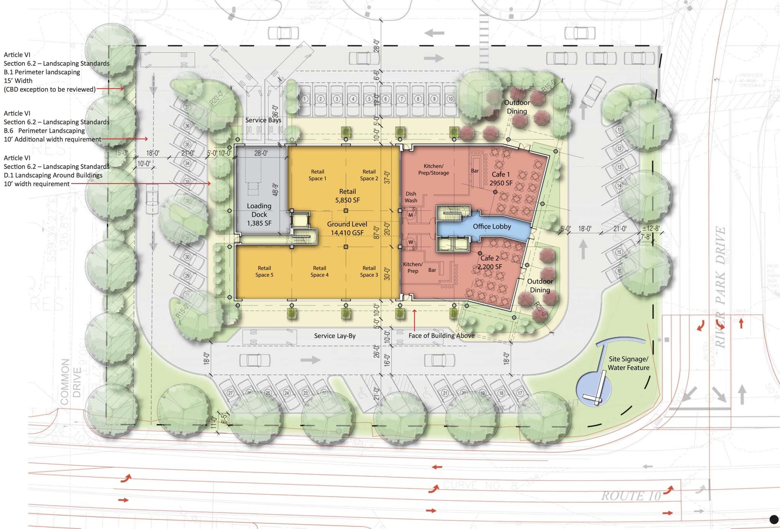 Site Plan: Building 1