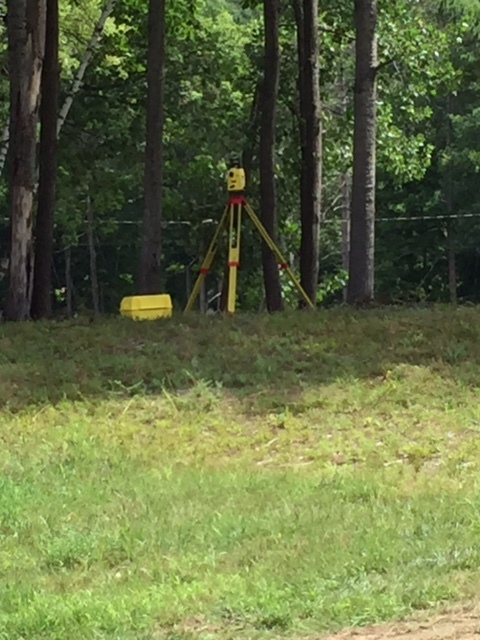 Northwoods has begun a detailed survey of existing conditions and marked the location of the existing sewer and water lines in the street.  Their excavation equipment has the capacity to use this GPS data to minimize disruptions to area residents.