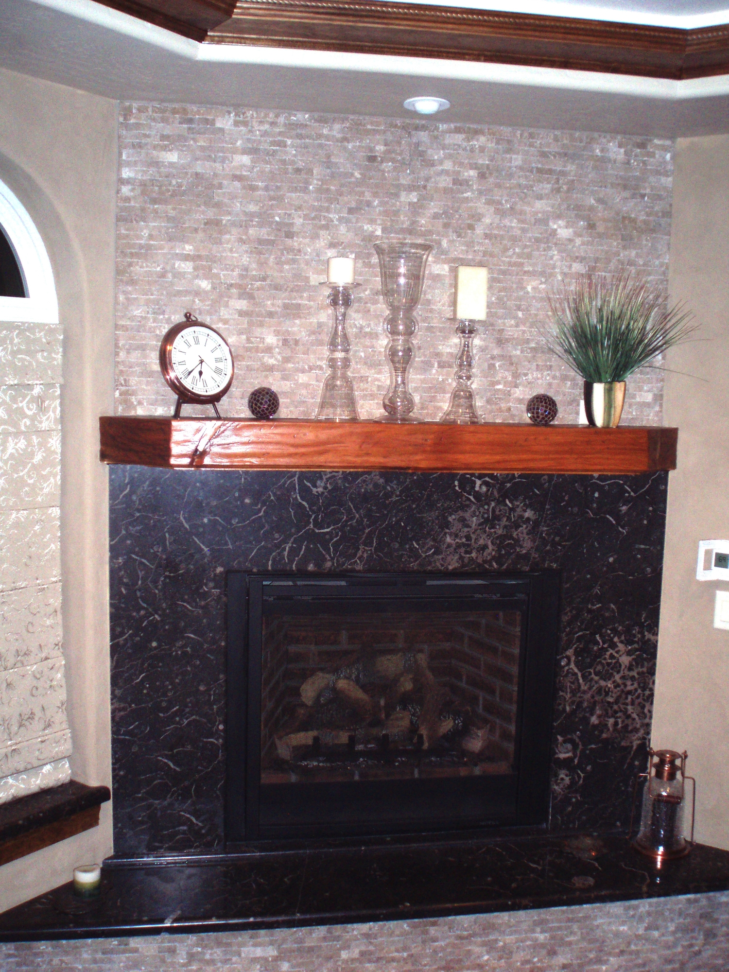 Fireplace Wrap with Hearth