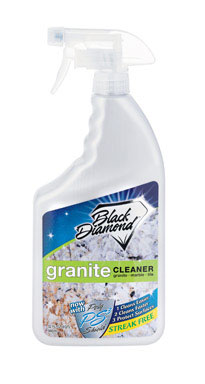 - Black Diamond Granite Cleanerin stock at our showroom or available on Amazon**We have tested many granite cleaners and this is our favorite. Doesn't leave streaks**