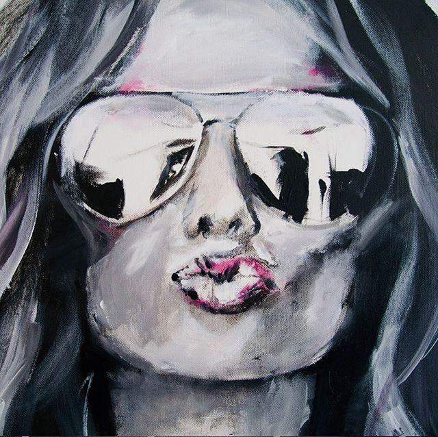 😘😘😘😘😘😘😘😎 • • • • • #stunnashades #sunnies #streetstyle #urbanart #colorpop #hair #kisses #reflection #monochromatic #figurepainting #bnw_lovers #femalefigure #partygirl #artistsdrop #art_empire #womenwhopaint #visualart  #artnerd #originalart #artcollective #art_spotlight #contemporaryart #acrylicpainting #sandiegoartist #ratedmodernart #modernartpainting #imaginativeuniverse #art_realism_ #momsbelike #arts