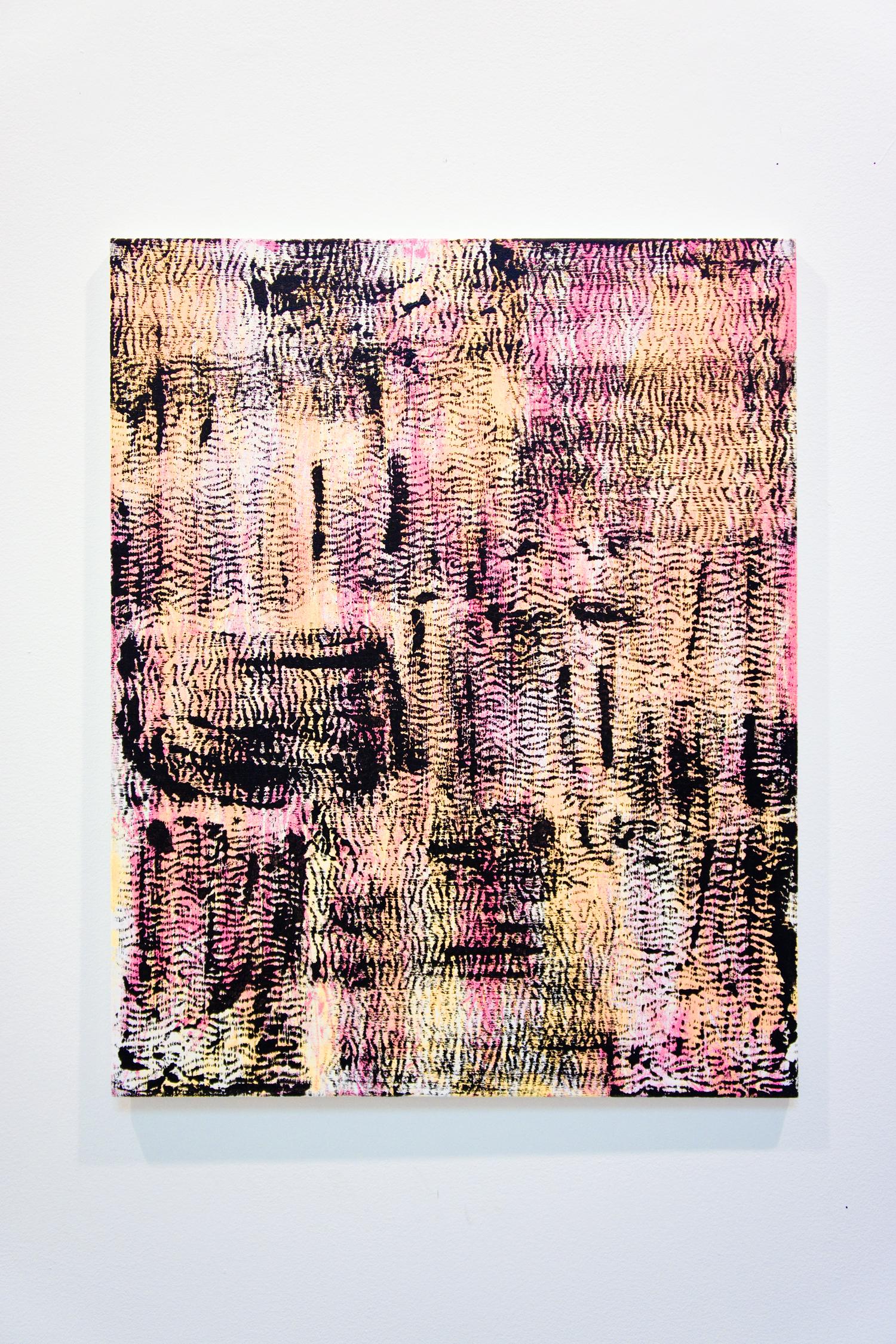 "Meshes IX , oil and acrylic on canvas, 75cm x 60cm / 29.5"" x 23.6"", 2013"