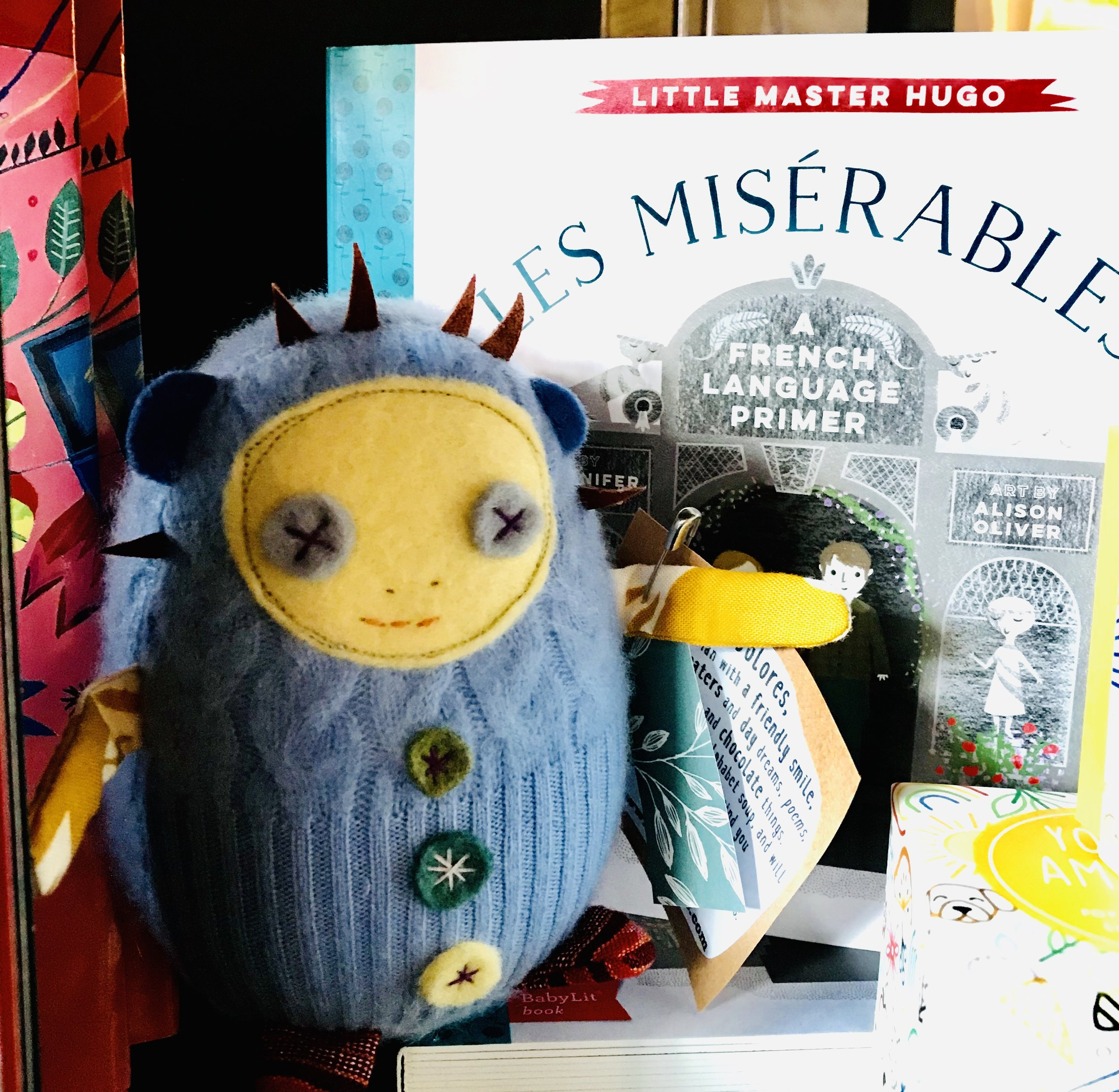 Cute Mini Dolores in soft Cashmere, posing with one of her favorite stories...