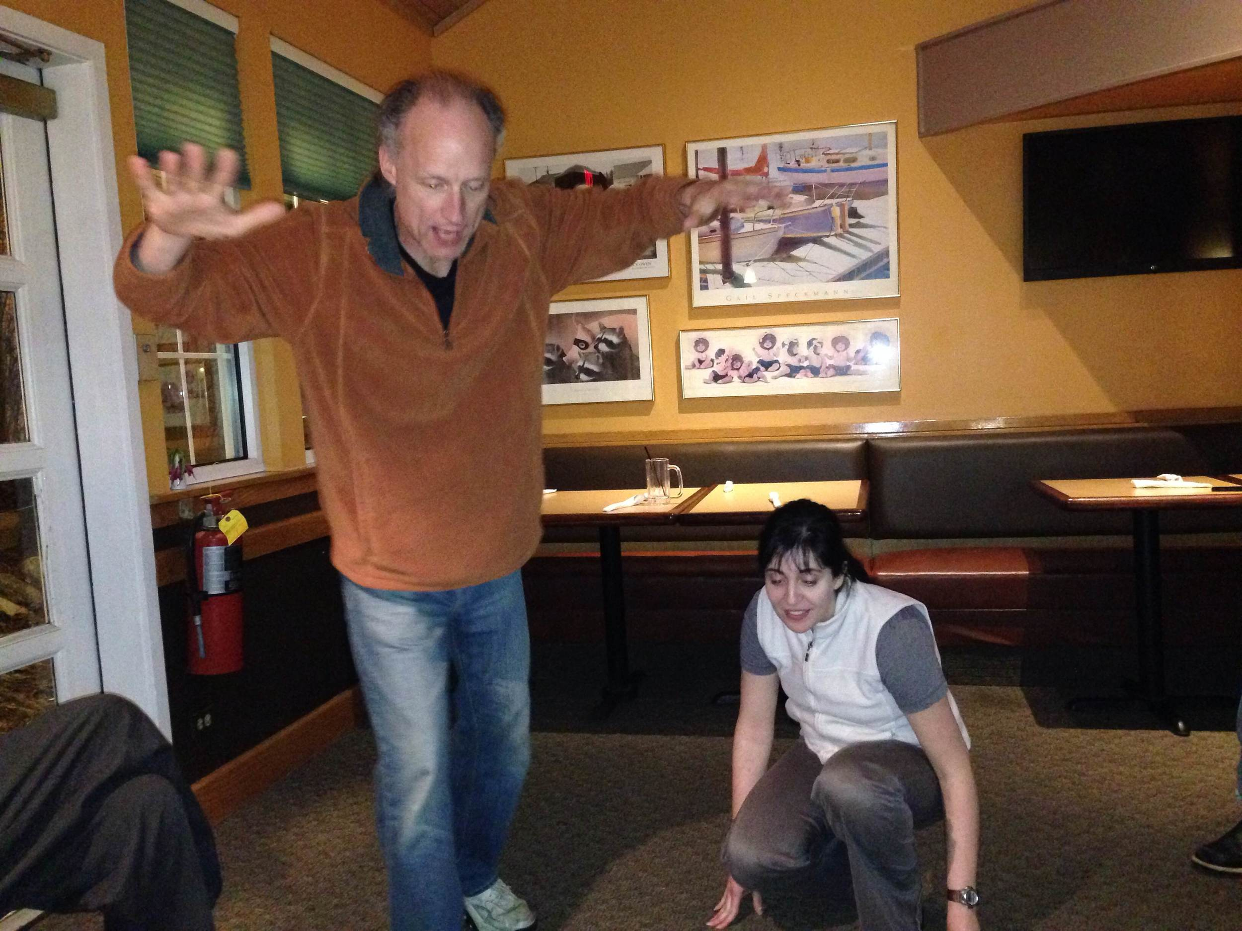 Richard O. and Kimberly G acting out an IMPROV scene.