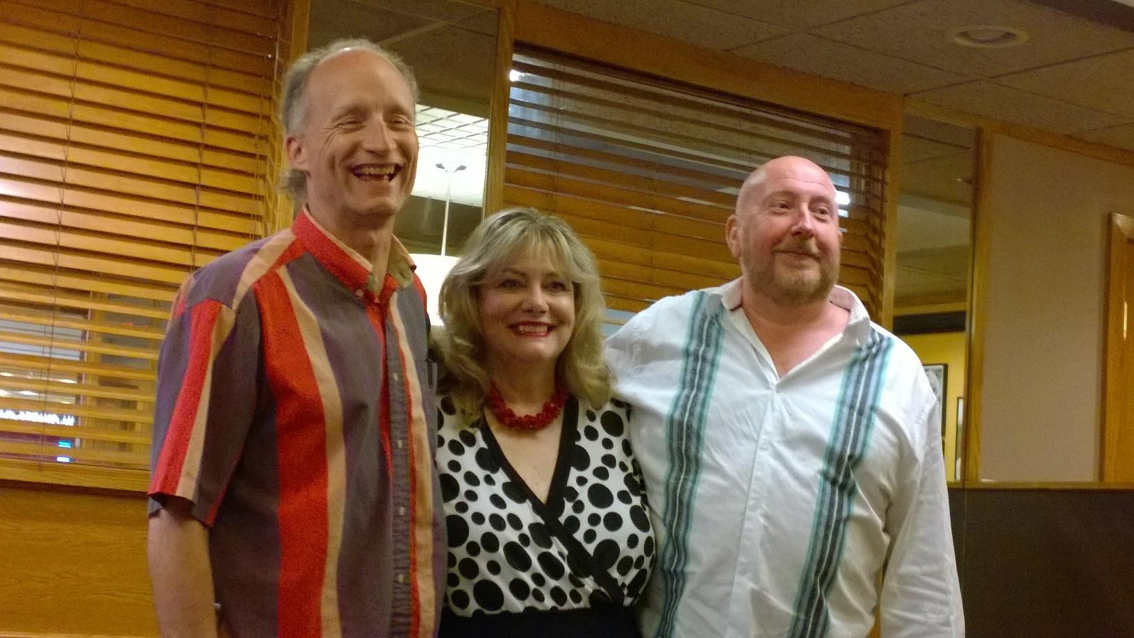 Richard O., Cynthia W. and Bill R. as The Three Headed Expert.