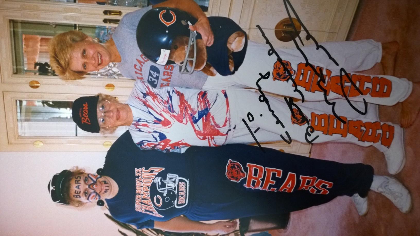 Me, my mom and Krys - 1984 - Notice Da' Coach's signature!