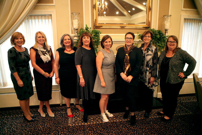 2017 Kane County Women of Distinction  Honorees (from left) Karen Schock, Debora McKay, Cynthia Wade, Mary O'Connor, Theoni Limouris, Esther Roby, Sharon Schmidt and Tara Burghart during a luncheon honoring the 2017 Women of Distinction Oct. 11 at the St. Charles Country Club. The event was hosted by Shaw Media, publisher of the Kane County Chronicle and Kane County Magazine. Kane County Law Library Director Halle Cox is not pictured.[Photot Credit Sandy Bressner - sbressner@shawmedia.com]
