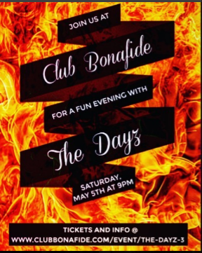 Club Bonafide (Manhattan) Saturday, May 5th at 9pm  - Tickets on sale now!