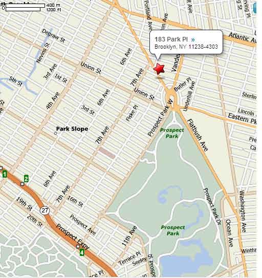 Prospect Park  avec son  marche en plein  air le samedi,  Park Slope   à  quelques pas...