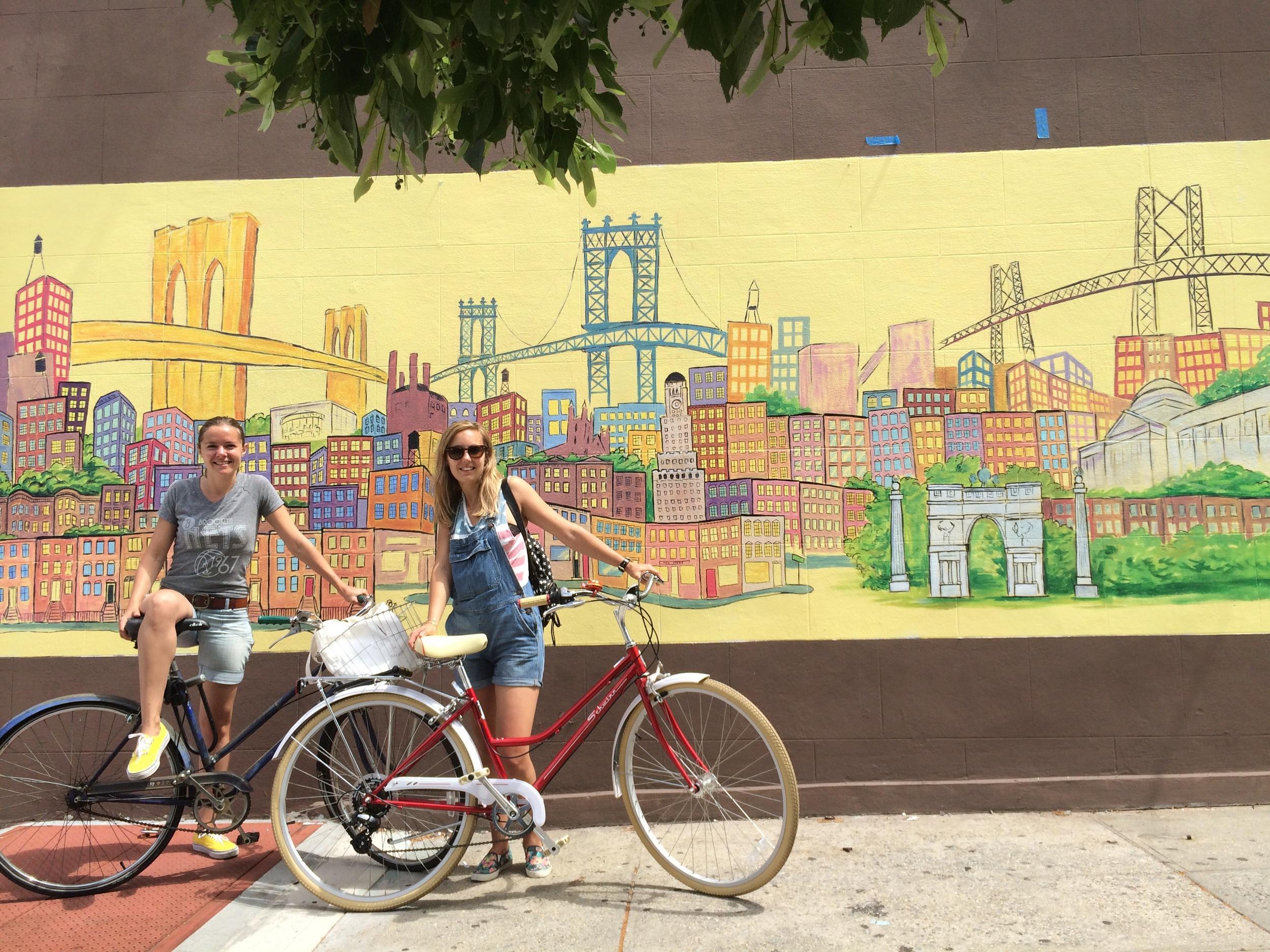 Tour à vélo de Brooklyn avec Elise ( www.newyorkoffroad.com ) et Florence ( http://www.flosglitterworld.com/ )