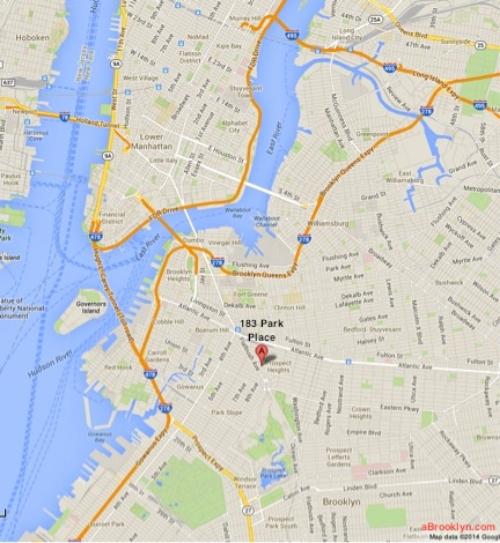Le calme de Brooklyn a 10 minutes en métro de Wall Street