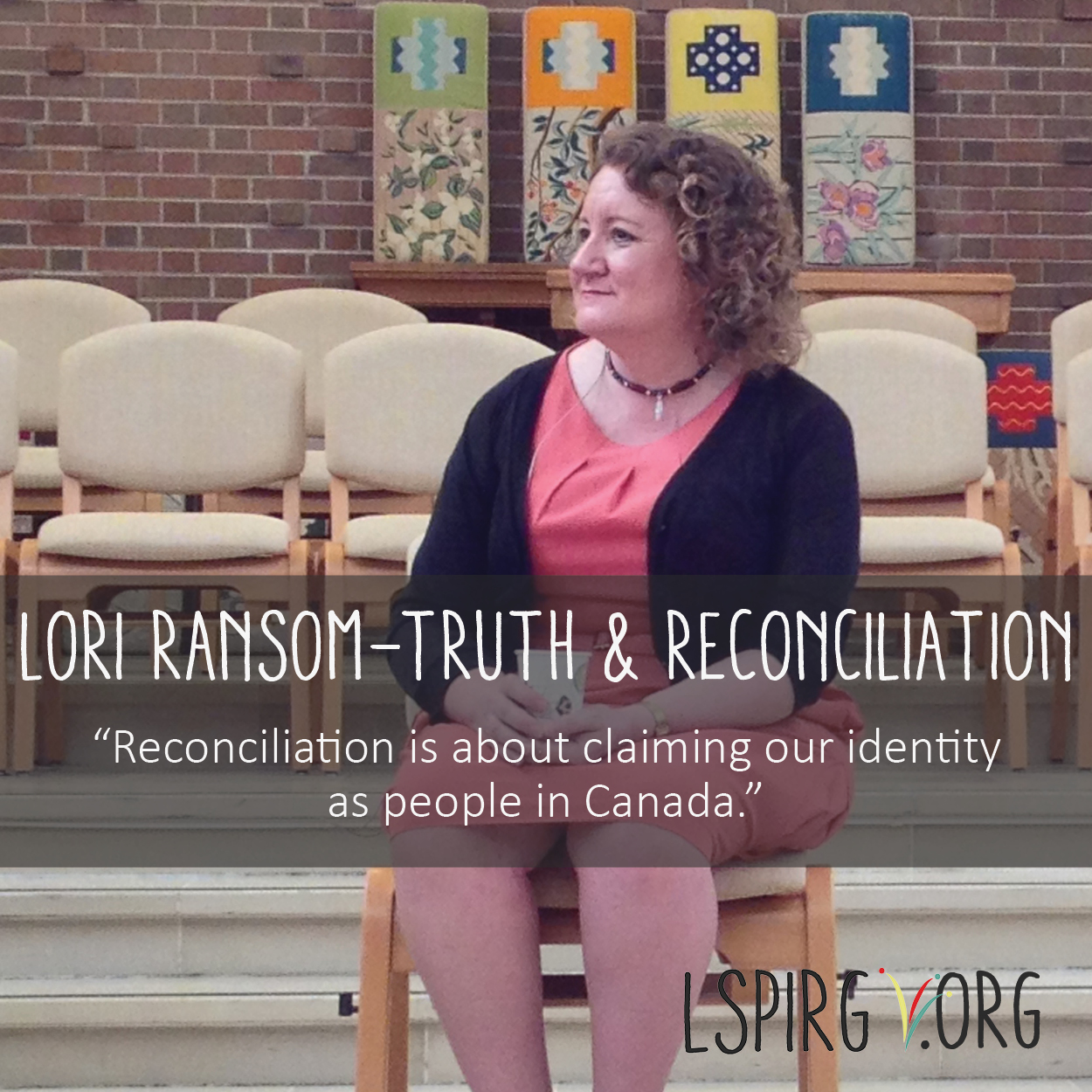 Lori Ransom of the Truth and Reconciliation Commission of Canada hosts discussion at Waterloo Lutheran Seminary.