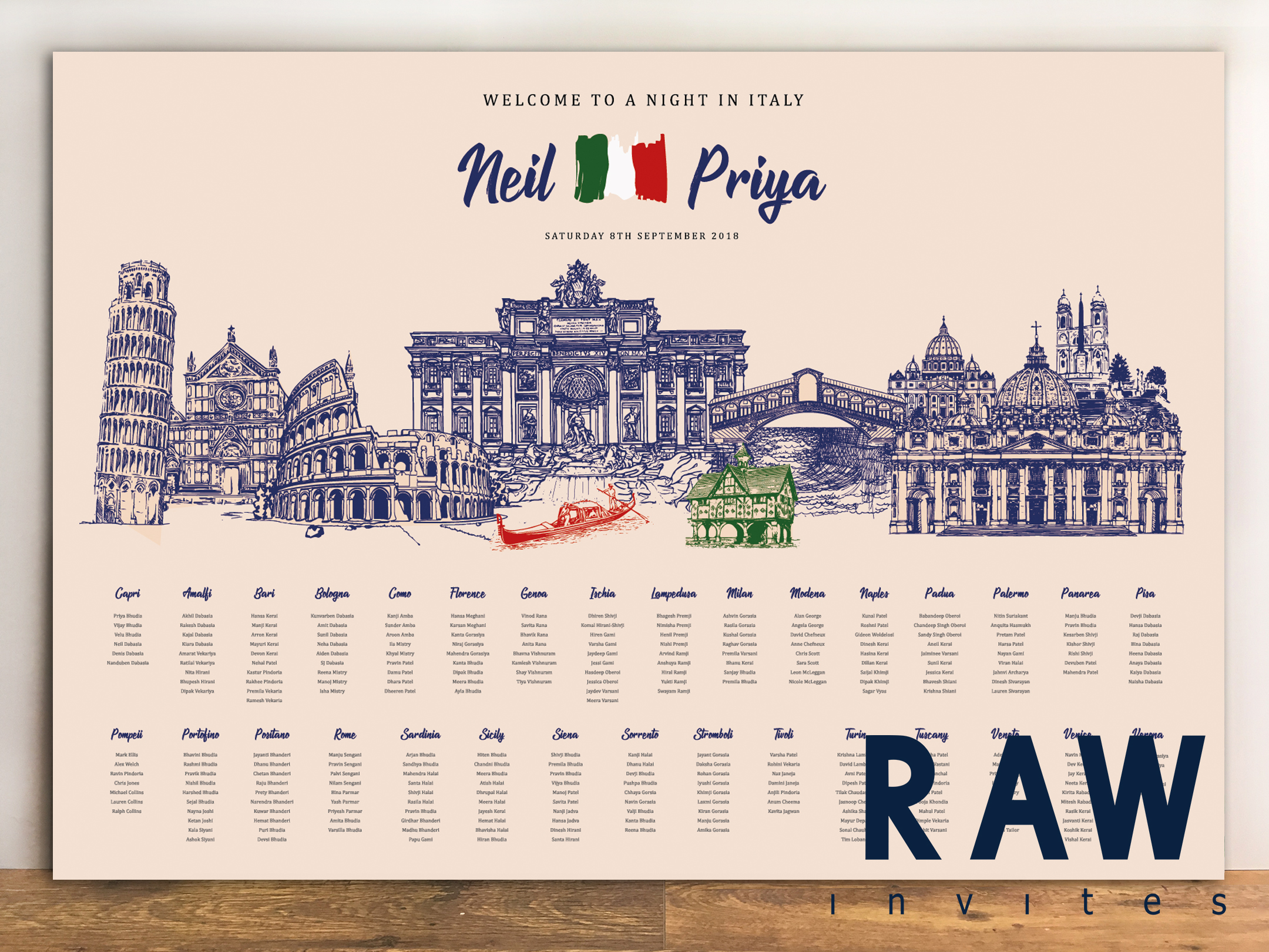Neil & Priya (Welcome to a night in Italy - The Proposal)