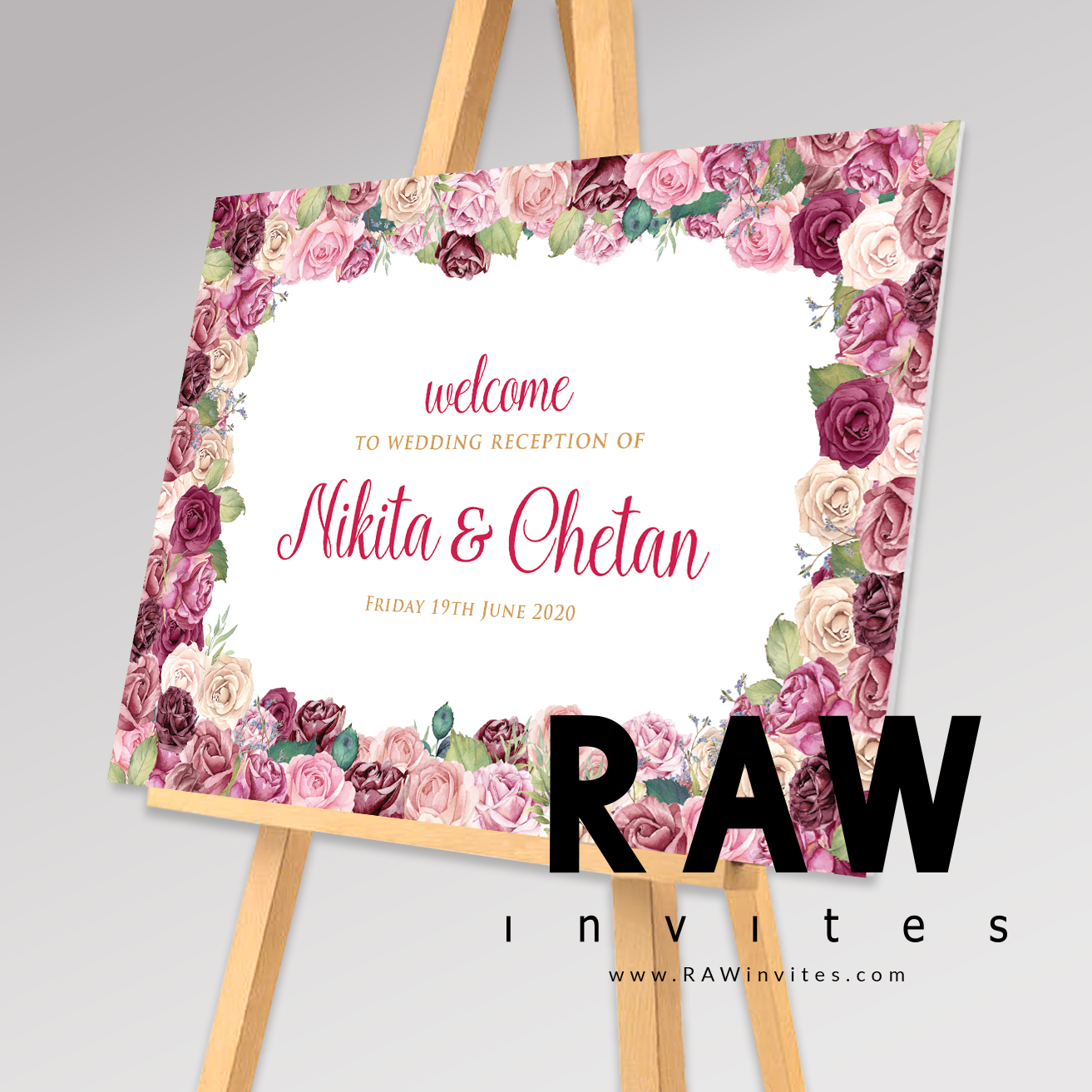 Rose - Welcome Board