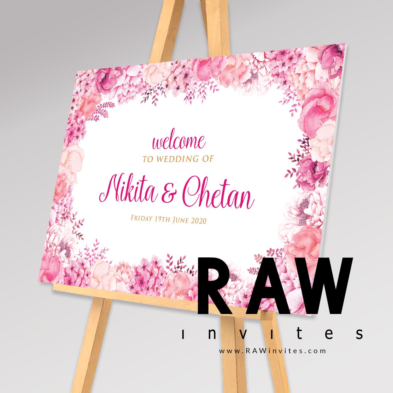 Tia - Light Pink - Welcome Board