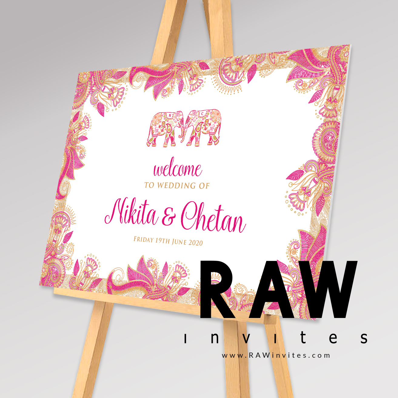 Rakhi-Rani - Pink - Welcome Board (Colours can be changed)