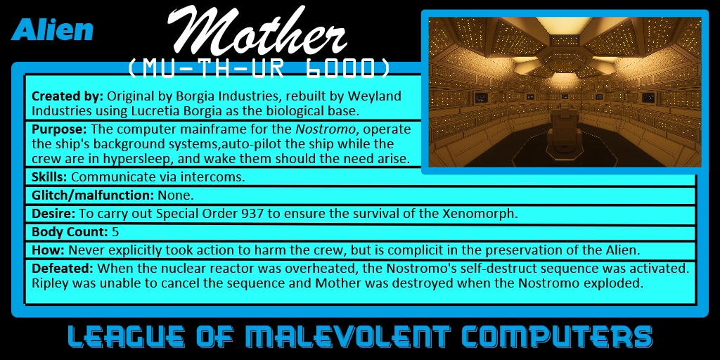 Number 10: Mother from ALIEN (1979)