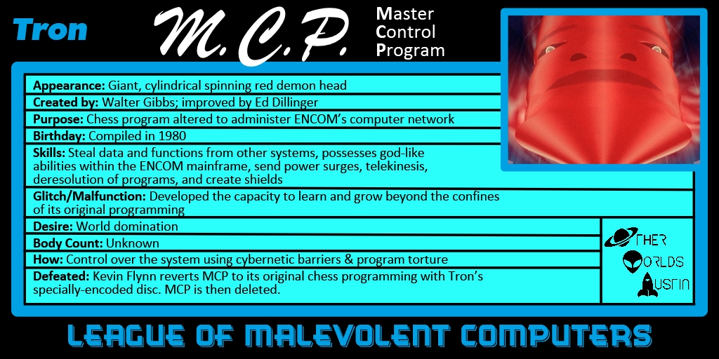 Number 4: M.C.P. from TRON (1982)