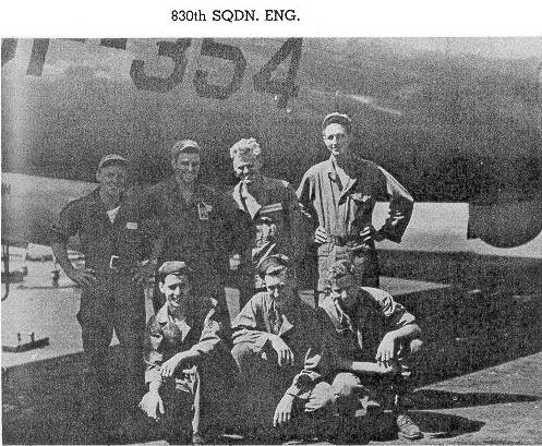 5 men of this B-29 crew assisted in the clean up