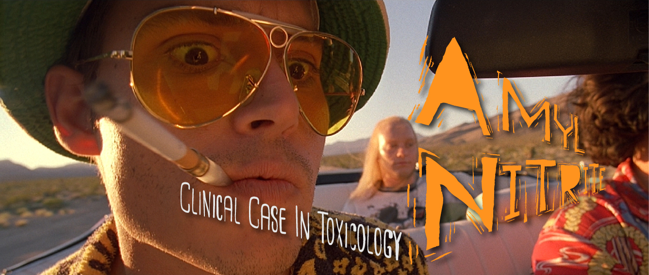 The screen adaptation of S. Thompson's novel,  Fear and loathing in Las Vegas,  depicts the characters Raoul Duke and Dr. Gonzo using Amyl Nitrite in multiple scenes throughout the movie.