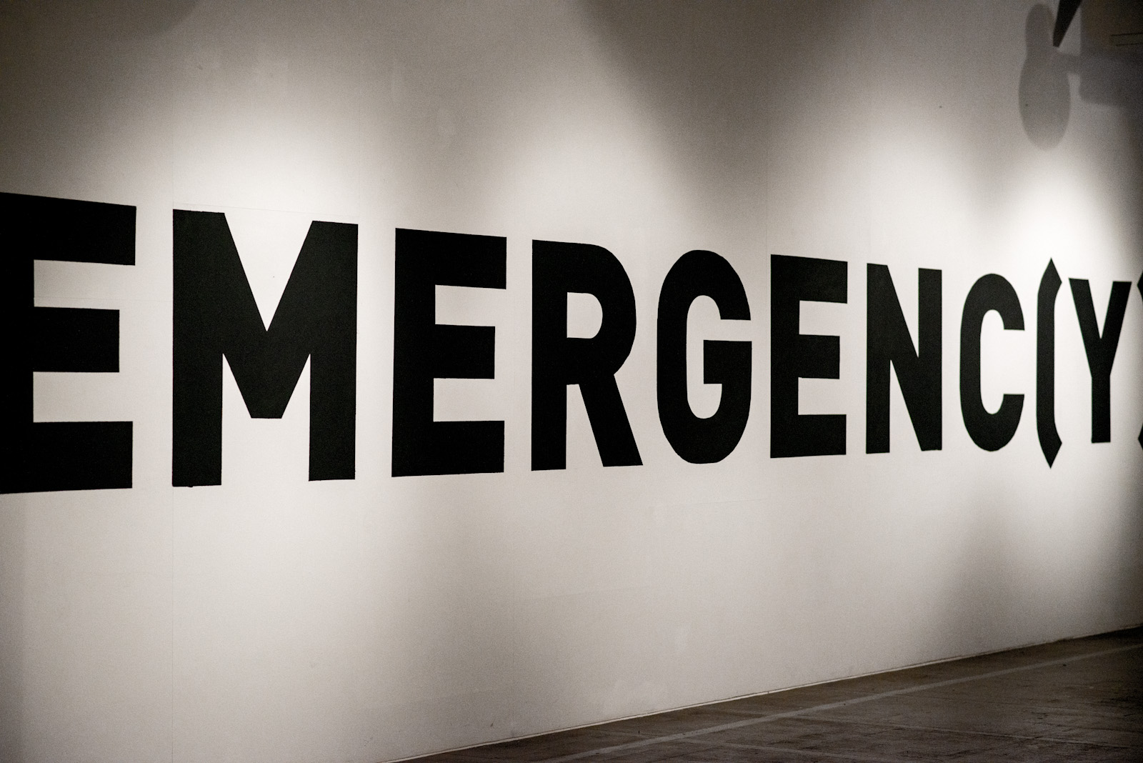 Emergenc(e)y exhibition entrance
