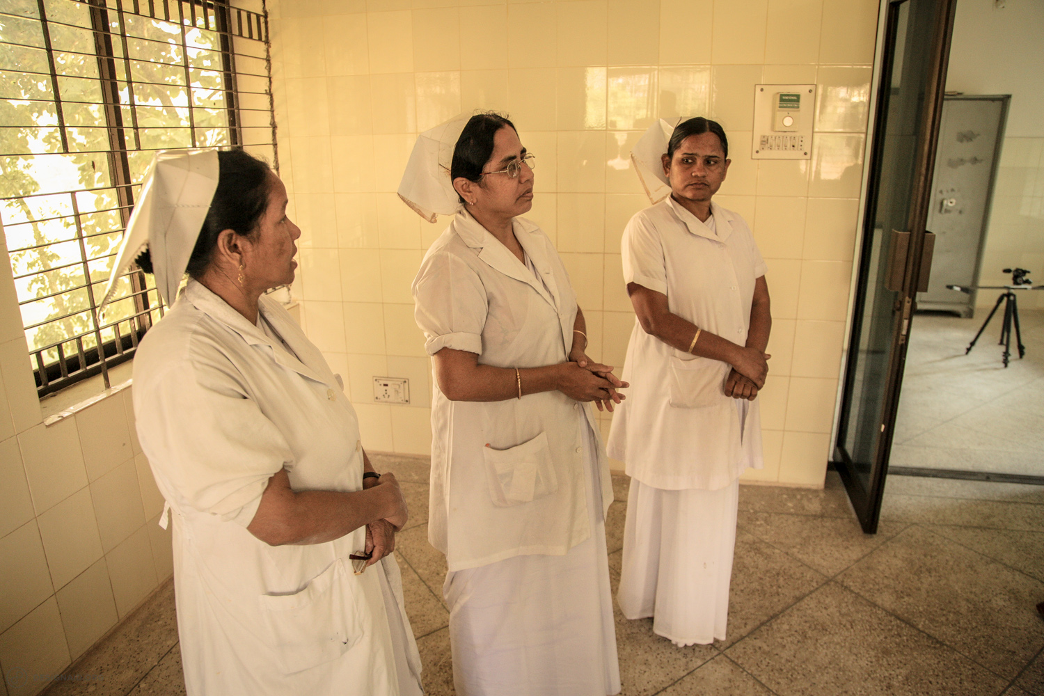 Interviewing the nurses on waste management and related issues