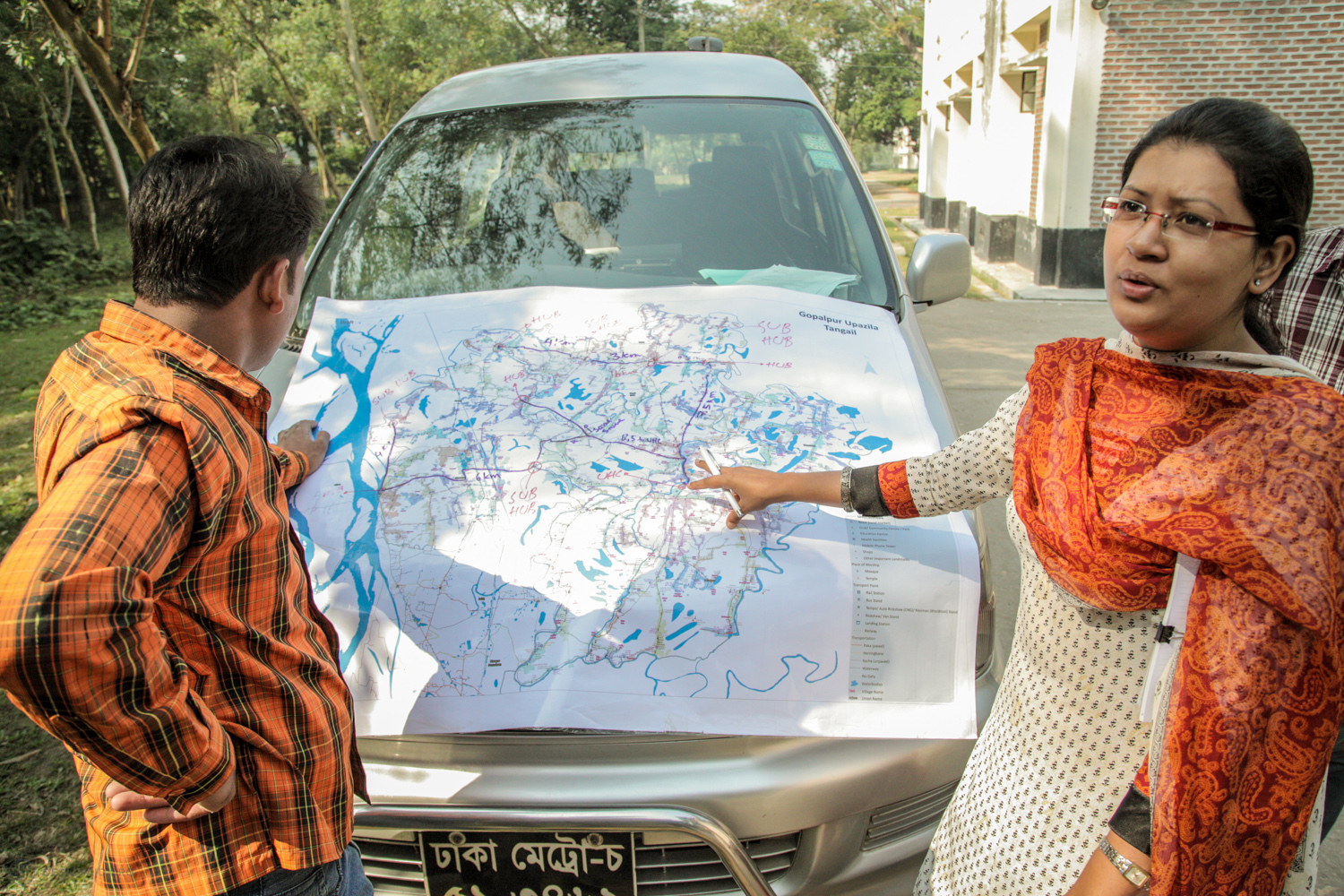 Mapping out the district hospital routes and accessibility