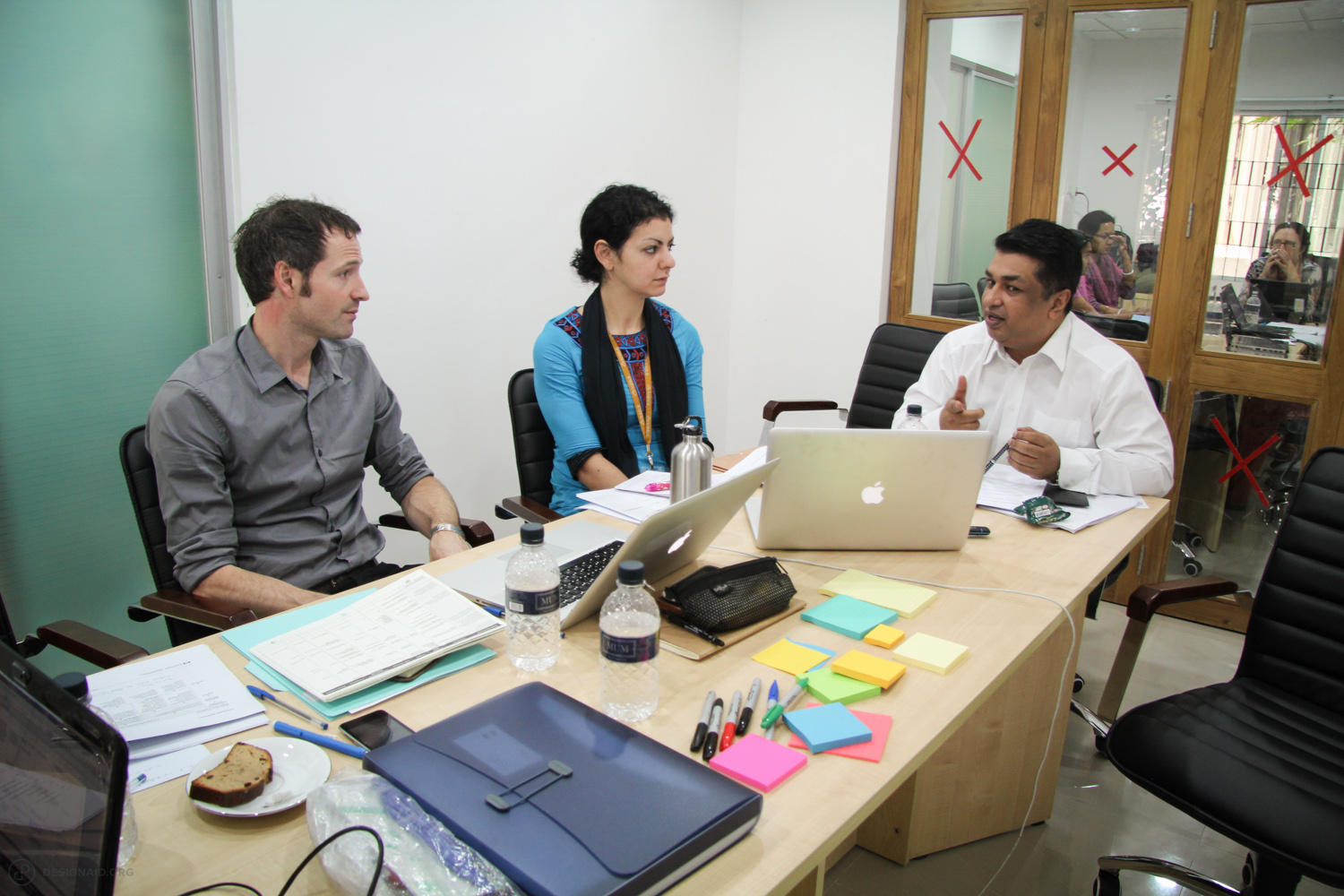 Our team brainstorming solutions at ICDDR,B in Dhaka