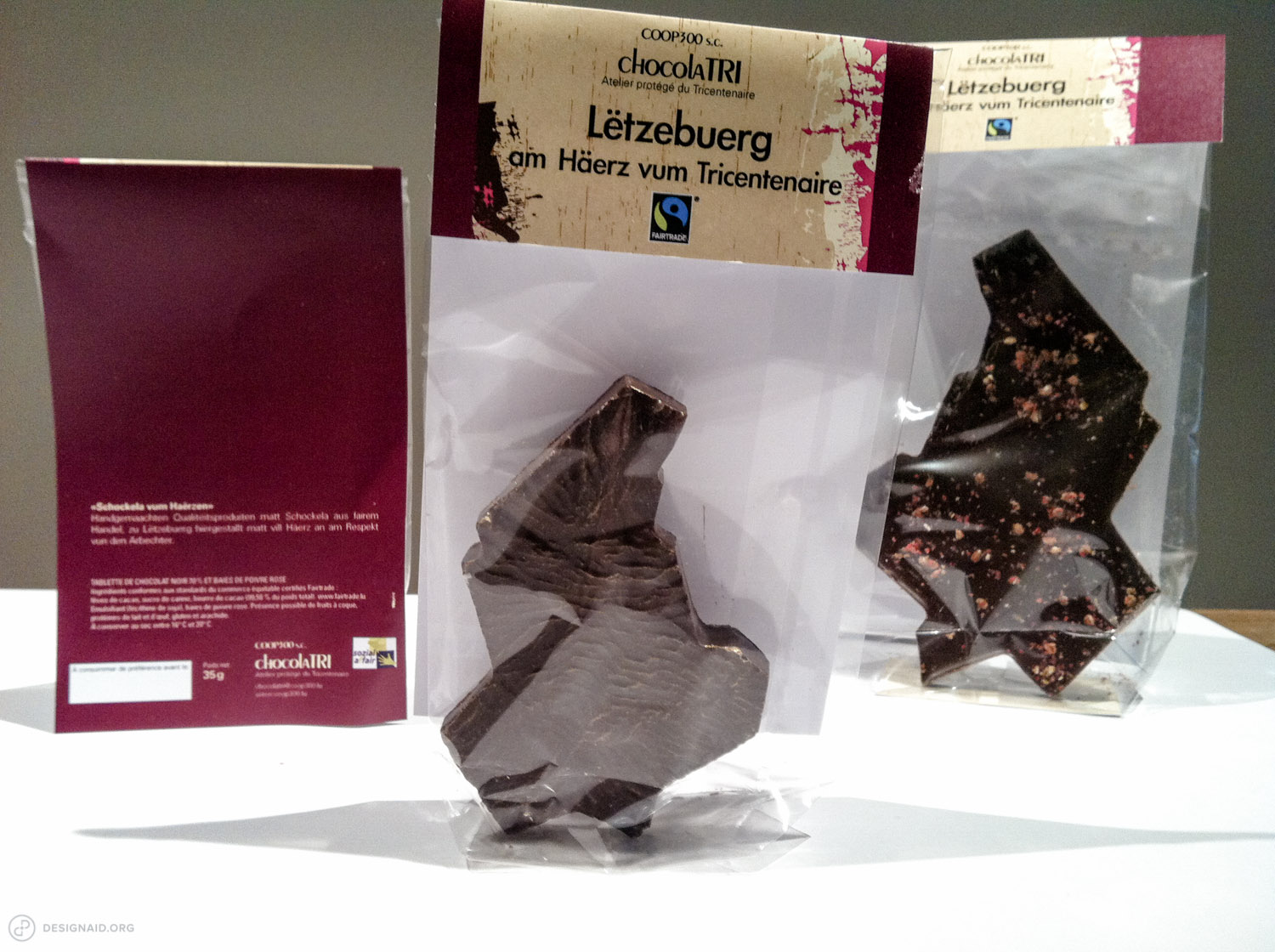 One of the results of our collaboration was the topographical map of Luxembourg, cast in pure dark chocolate