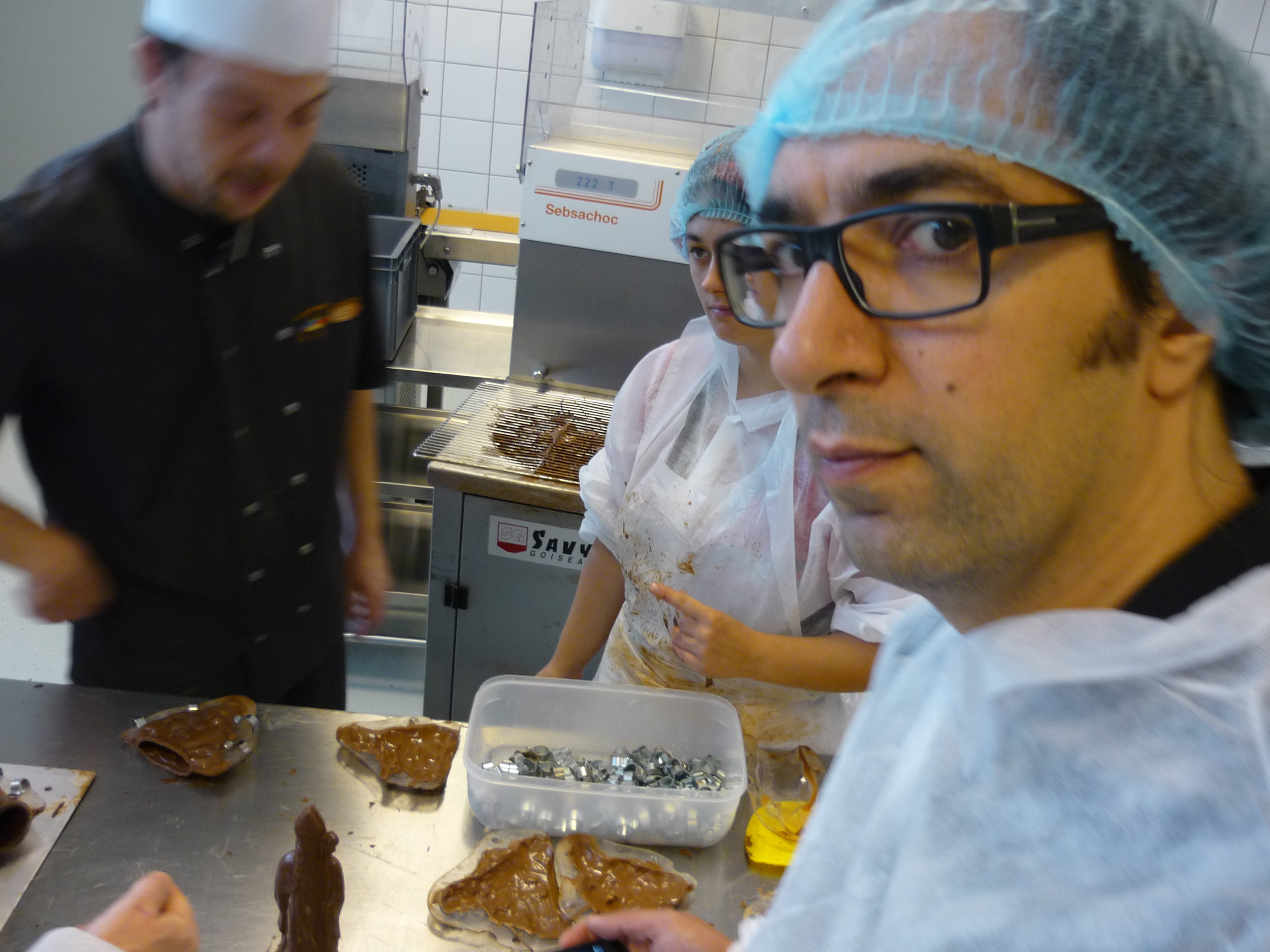 Joao-Paulo having a sweet time with Maître Chocolatier Marc Schneider