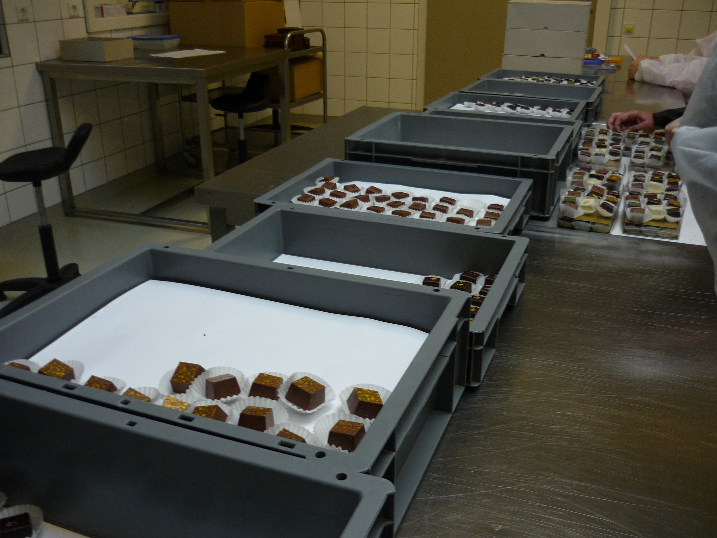 A fine selection of chocolate pralines