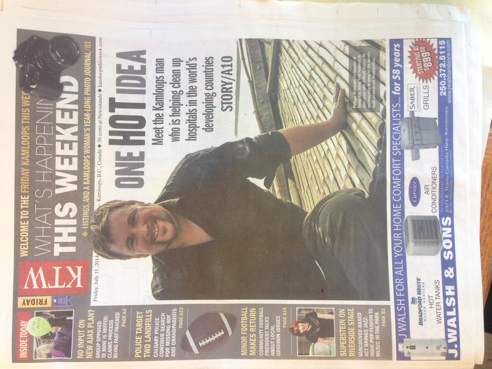 Kamloops this week covered our Incinerator Initiative story.