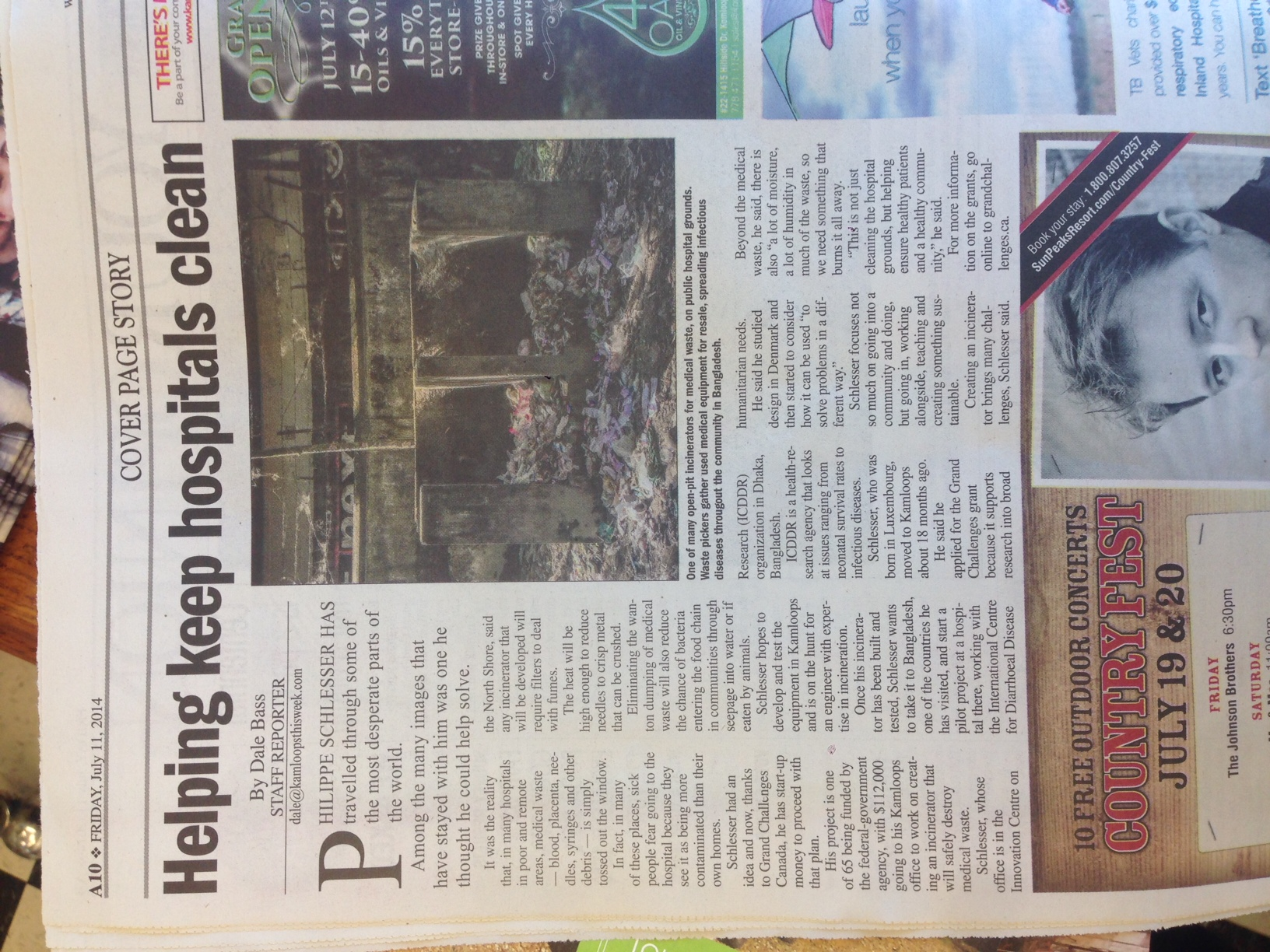 Thank you Dale Bass from Kamloops this week for a nice article covering this project.