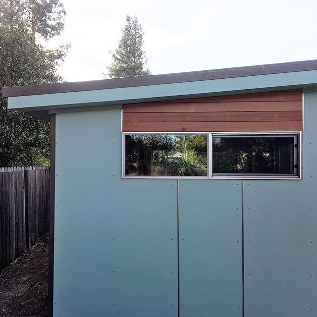 Clean lines - keep it simple #simpleliving #redwood #modern #mancave #sheshed
