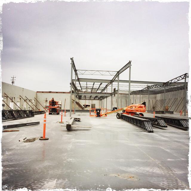 Structural framing begins...