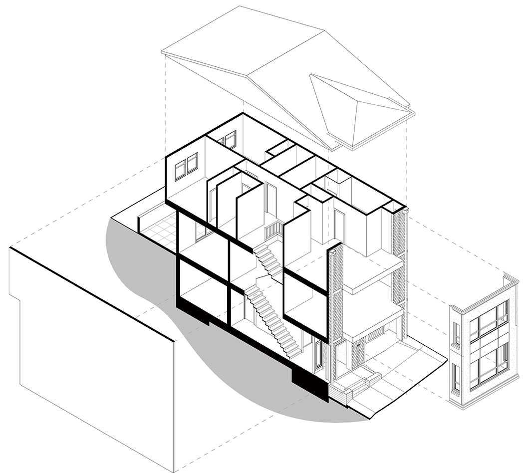 Exploded View of Type B Single Family Home