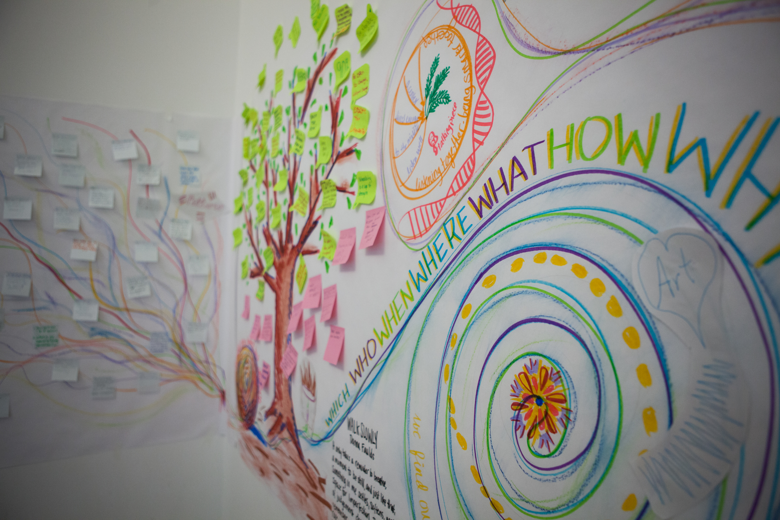 Harvest can take many forms. For this training we created a colorful and artistic interpretation of the work done as a group.