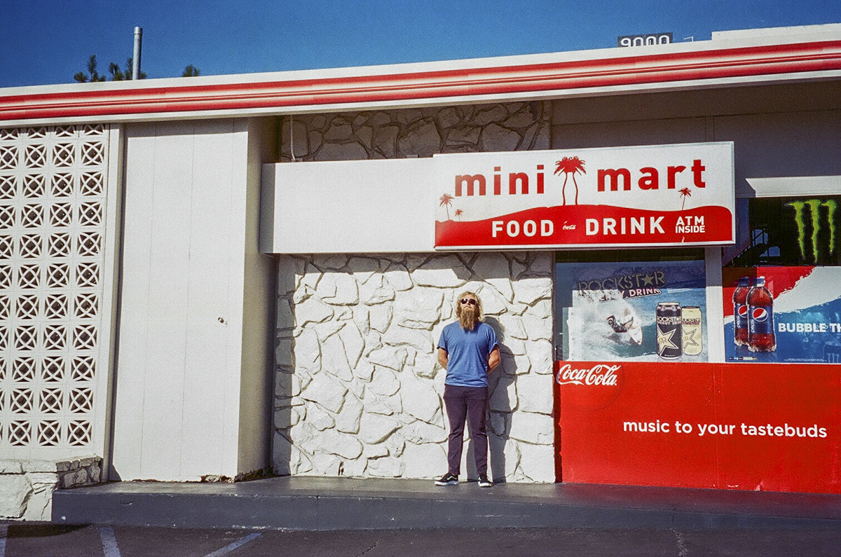 Los Angeles, CA 2014 - My friend Shady outside a mini-mart. He's Australian, surfs, creative, travels around the world and has a burrito tattoo on his shoulder. If that's not enough to make you fall in love with him we don't have anything in common.