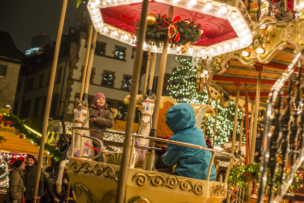 Merry Go round at the Frankfurt Christmas Market.