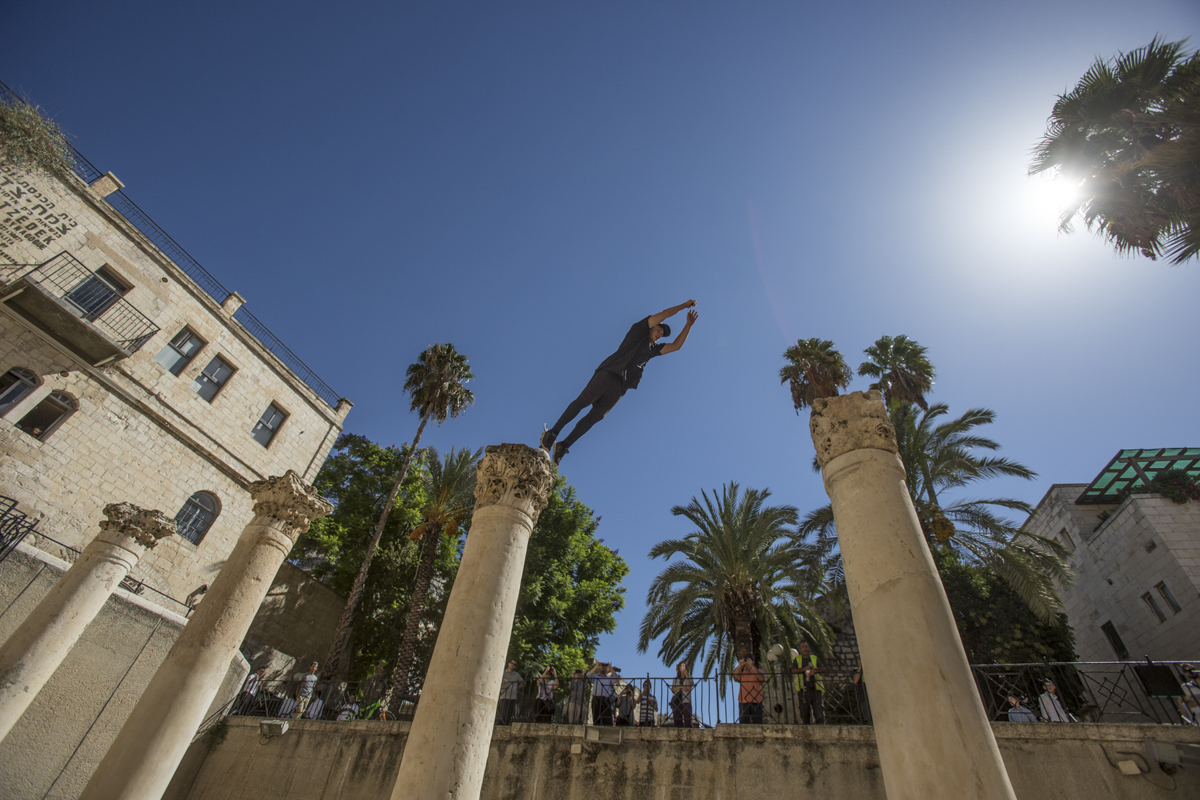 September 2016 - Jerusalem - Jason Paul jumping across columns. Click to read  blog post  or watch  vlog.
