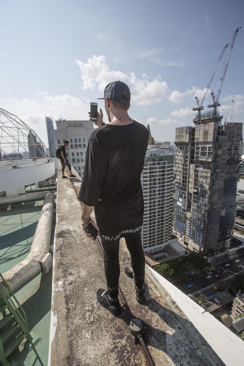 Jason Paul and Anan Anwar on top of Bangkok.