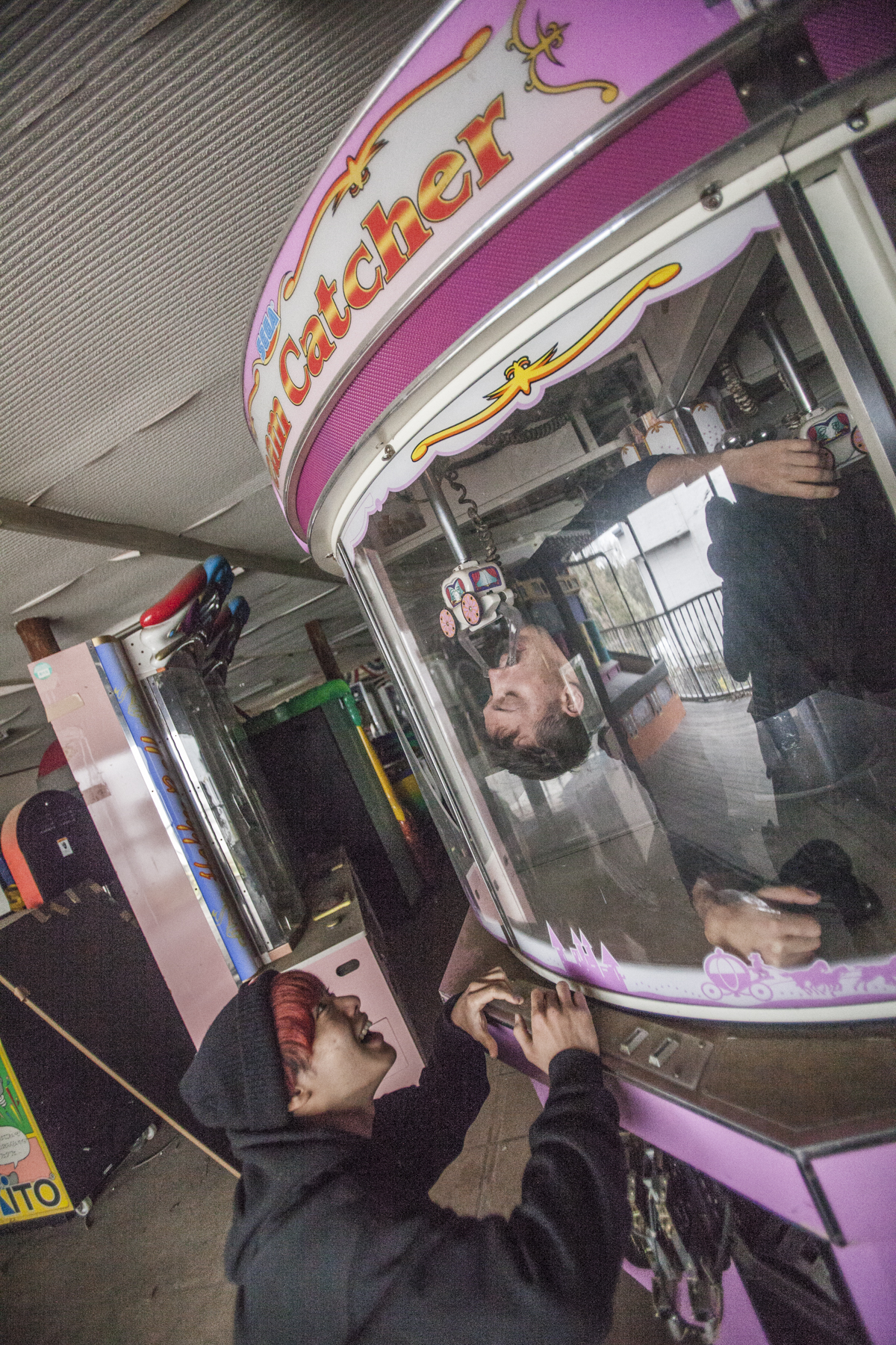 Arcade games big enough to fit in.