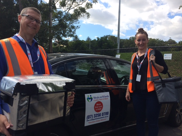 Jeff and Jasmine out on the roads for Crosby Park Meals on Wheels. They enjoyed chatting with those that they met in the course of their deliveries.